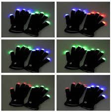 Light Up Gloves Led Gloves As Gifts Magic White Led Flashing Finger Tip Gloves