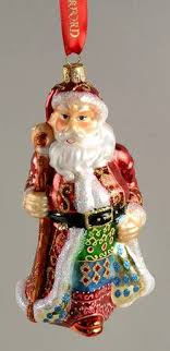 waterford heirloom ornaments quilted santa boxed