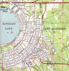 Land O Lakes Florida Map by Camp Blanding 1949