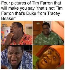 Duke Memes - tim farron tracy beaker duke meme by yeahboyever redbubble