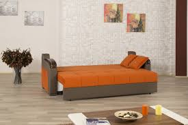 Orange Sofa Bed by Deluxe Signature Sofa Bed In Orange Fabric By Casamode