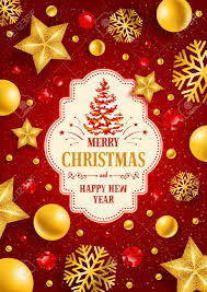 christmas decorations christmas greeting card with type design and christmas decorations