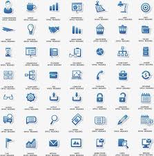 icone de bureau les icônes du bureau des affaires de ppt plat simple plat bureau