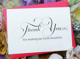 hairstylist thank you card beautician thank you make up