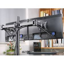 new halter dual monitor desk clamp stand for 27