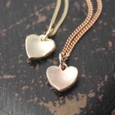 necklace pendants heart images Flutter solid rose gold heart pendant handmade gold silver and jpg