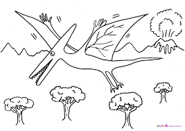 flying dinosaurs coloring pages for preschool 6398 flying