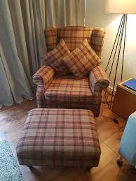 Next Armchairs Next Brown Check Armchair And Footstool In Woolwich London