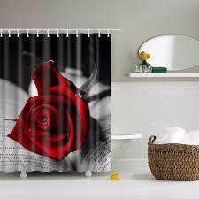 online get cheap shower curtains print roses aliexpress com