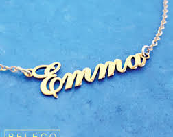 Customized Name Necklaces Custom Name Necklace Etsy