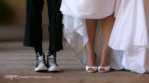 wedding dress shoes in white wedding dress and white peep toe bridal shoes groom in