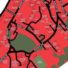 New Brunswick Canada Map Detailed by University Of New Brunswick Fredericton Campus Map Print U2013 Jelly
