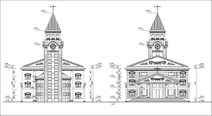 Chapel Floor Plans And Elevations Church Design Drawing Church Plan Church Details Church Elevation