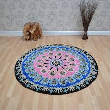 nomadic circular wool rugs nom01 pink free uk delivery the rug