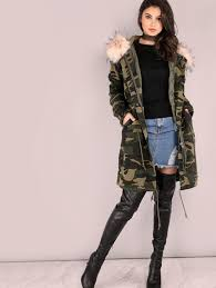 women oversized camo parka jacket camouflage for cheap online