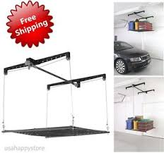 Hanging Shelves From Ceiling by Garage Storage System Overhead Shelves Organizer Roof Rack Mount