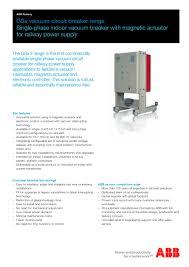 gsx vacuum circuit breaker range abb pdf catalogues