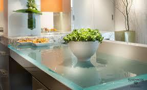 glass kitchen island it makes a statement artisan glass from thinkglass materials