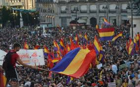 Flags In Spanish Anti Monarchist Spanish Protestors Fly Republican Flags Vexillology