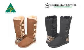 ugg boots australian leather australian leather button uggs groupon goods