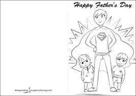happy father u0027s day card coloring page free printable coloring pages