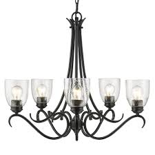Chandelier Light Fixtures by Galveston Lighting Collection 4855 Rbz Series Rubbed Bronze Finish