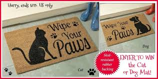 Wipe Your Paws Dog Doormat Win A Wipe Your Paws Door Mat Us Ends 5 19