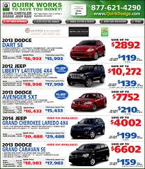 jeep dodge chrysler shop quirk chrysler jeep dodge ram specials online at boston com