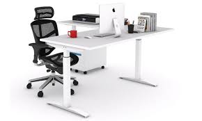 Stand Up Desk Height Furniture Office Height Adjustable Table Automatic Modern New