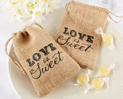 wedding favor containers is sweet burlap drawstring favor bag set of 12