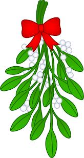 christmas mistletoe christmas mistletoe with bow free clip