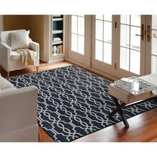 home decorators area rugs home decorators collection kingston geo navy ivory 5 ft x 7 ft 6