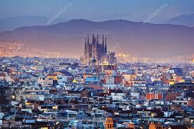 barcelona city view barcelona city in spain stock editorial photo kanuman 93552944
