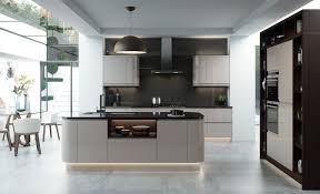 Grey Gloss Kitchen Cabinets by Umbria Gloss Adornas Kitchens Fitted Kitchens In Bangor
