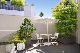 Concrete Pergola Designs by Terrace Garden Design Striped Canopy Above Dining Table Set In