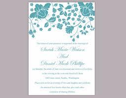 Diy Wedding Invitations Templates Diy Wedding Invitation Template Editable Word File Instant