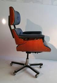 modernist eames style leather desk chair at 1stdibs office chairs