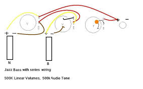 series jazz bass wiring diagram with tonestyler and star grounding