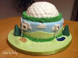 golf themed birthday cakes
