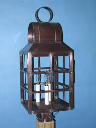 lighting by the sea solid copper post lantern 3050hc lighting by the sea