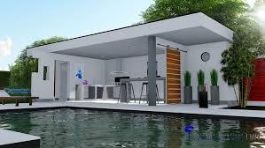 construction cuisine d t ext rieure cuisine d été pool house contemporain toit terrasse conception