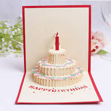 s birthday gift 3d pop up greeting card handmade happy birthday gift cake birthday