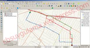Shortest Route Map by Shortest Path Analysis With Online Routing Mapper Plugin Cbs