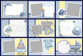 baby photo album templates for baby photo album frames postcards stock