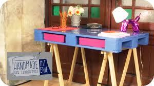 Langer Schreibtisch Paletten Schreibtisch Handmade Mit Enie Mach U0027s Einfach Selbst
