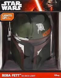 Star Wars Kids Rooms by Star Wars Boba Fett Helmet Kids Room 3d Deco Light Up Fx Cracked