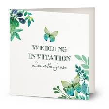 Wedding Invitiations Watercolour Butterfly Wedding Invitation U2013 Beautiful Wishes