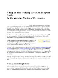 wedding reception programs exles wedding emcee introduction script wedding ideas
