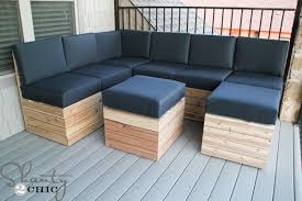 DIY Modular Outdoor Seating Shanty  Chic - Diy patio furniture