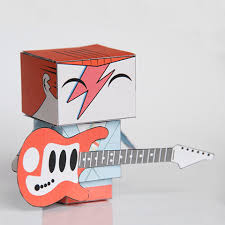 Papercraft Guitar - david bowie with guitar paper free printable papercraft